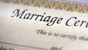 Lost marriage certificate